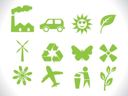 polution: abstract eco icon vector lllustration