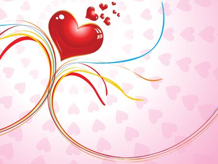 corazones: abstract valentine concept  vector illustration Illustration
