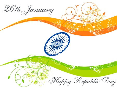 saffron: abstract republic day wallpaper vector illustration Illustration