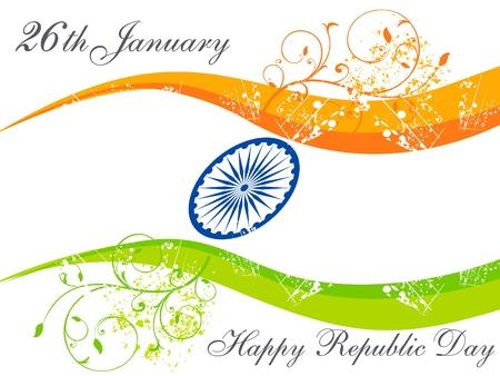 national pride: abstract republic day wallpaper vector illustration Illustration
