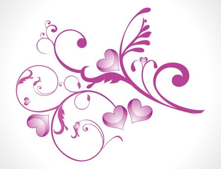 abstract love floral vector illustration Stock Vector - 9131602