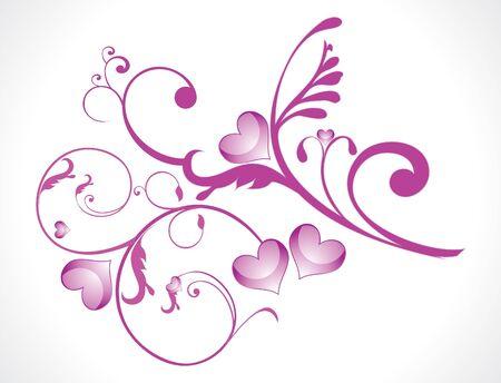 floral vector: Ilustraci�n de vector floral de amor abstracto