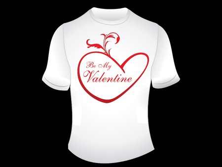 febuary love glossy shiny creative: abstract love t shirt wallpaper vector illustration Illustration
