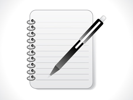 pad and pen: abstract notepad icon  vector illustration Illustration