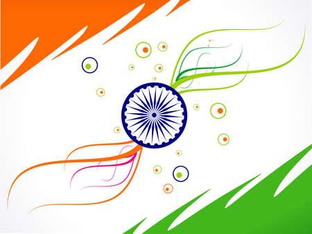 インド: 抽象共和国日旗波ベクトル イラスト