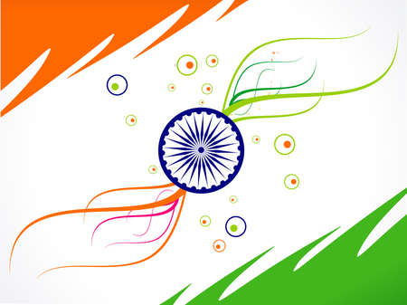 abstract republic day flag wave vector illustration Vector