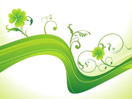 abstract st patricks clover vector illustration Vector