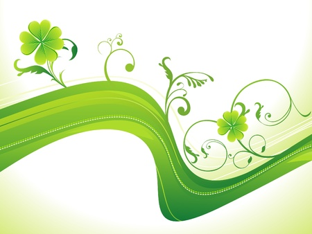 accent abstract: abstract st patricks clover vector illustration Illustration