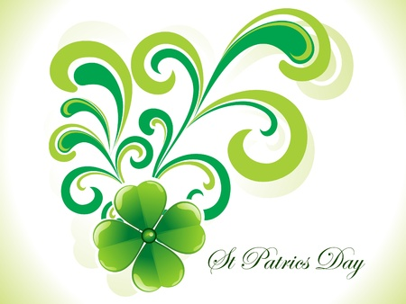 abstract st patricks clover vector illustration Vector