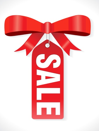 sale banner: abstract sale tag with ribbon vector illustration