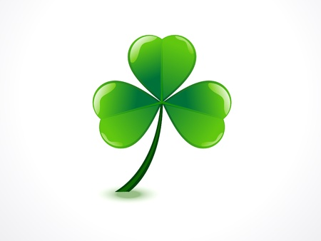 four fourleaf: abstract st patrick  day vector illustration  Illustration