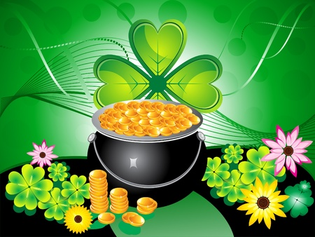 abstract st patrick background vector illustration Stock Vector - 9132300