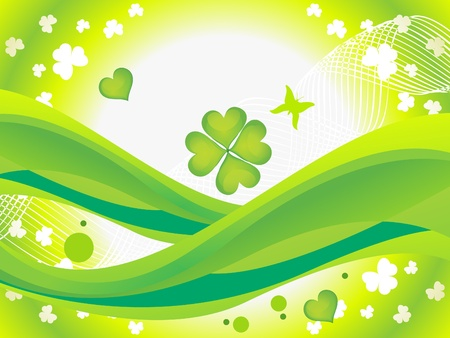 abstract st patrics background vector illustration Stock Vector - 9132472