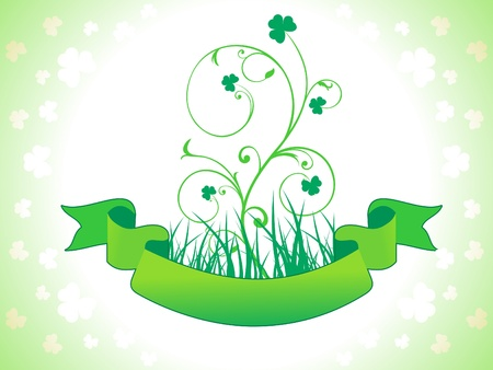 abstract st patrics floral vector illustration Vector