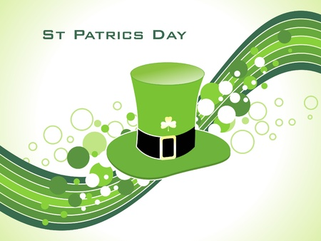 abstract st patric hat vector illustration Vector