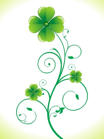 clovers: abstract st patricks clover vector illustration Illustration