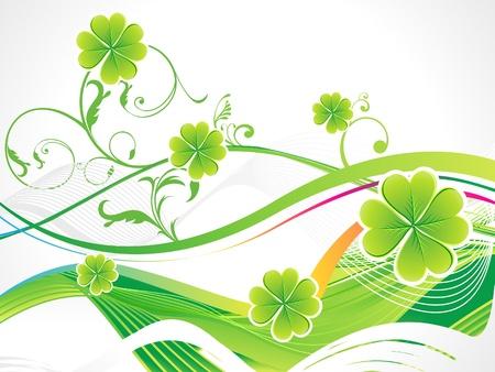 abstract st patricks clover vector illustration Stock Vector - 9132375