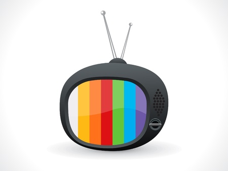ilustración vectorial de televisión abstracta icono Ilustración de vector