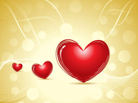 abstract valentine heart concept  vector illustration Stock Vector - 9132457