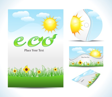 abstract eco corporate id vector illustration Vector
