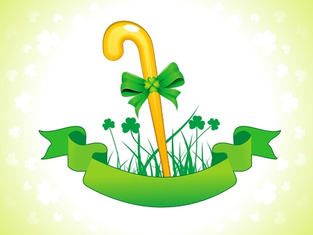 patric: st patric stick vector illustration Illustration