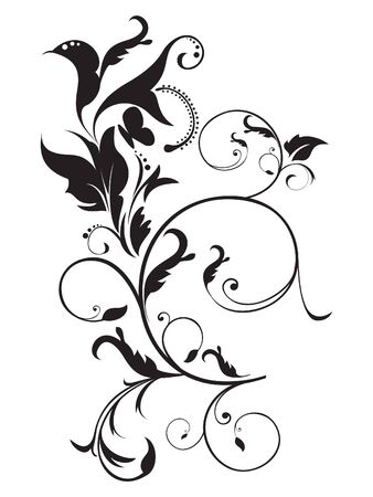 abstract artistic floral vector illustration Stock Vector - 9132106