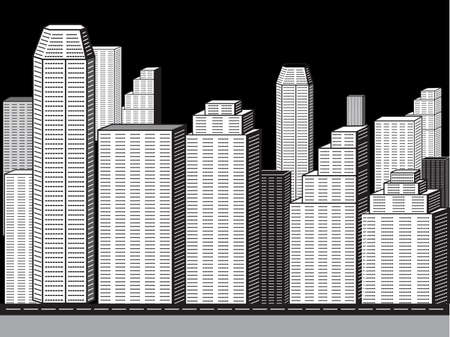 abstract corporate city buildings vector illustration Vector
