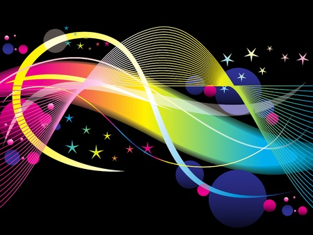 abstract colorful rainbow wave vector illustration Stock Vector - 9132088