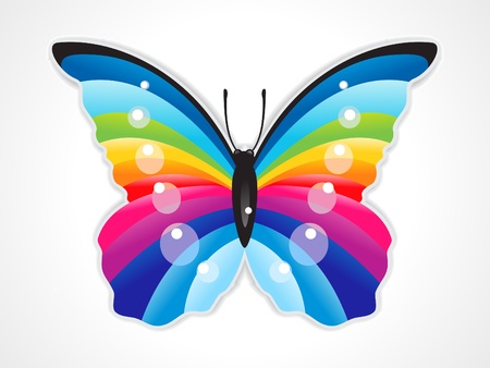 abstract colorful shiny butterfly  vector illustration Stock Vector - 9132092