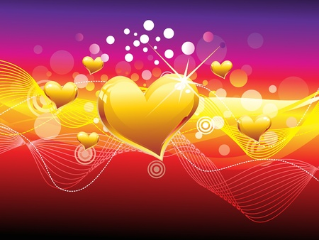 valentine s card: abstract colourful heart background vector illustration Illustration