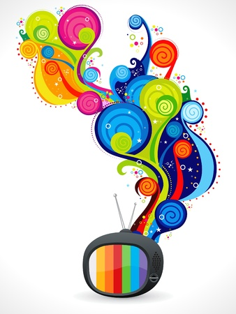 journal t�l�vis�: Abstract t�l�vision magique color� vector illustration  Illustration