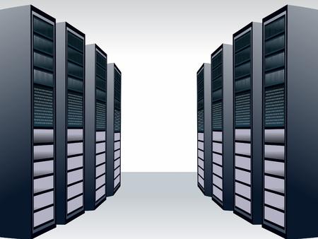 centre d affaires: une illustration vectorielle de serveur unique station