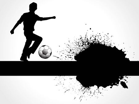 abstract football boy with grunge vector illustration Vector