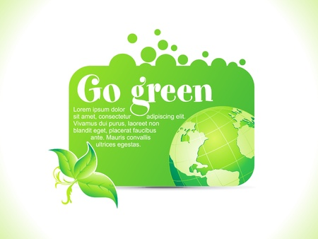 save earth: abstract go green icon vector illustration