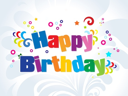 abstract colorful birthday words vector illustration Stock Vector - 9301307