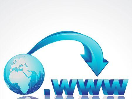 presencia: concepto abstracto de internet con globo Vectores