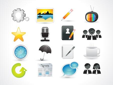 assistent: abstract web icon set vector illustration Illustration
