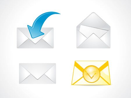 filing tray: abstract multiple mail icon vector illustration Illustration