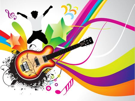 abstract colorful musical background vector illustration Stock Vector - 9301347