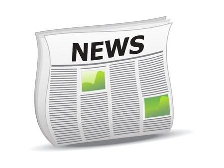periodicos: ilustraci�n vectorial de noticias brillante abstracta icono Vectores