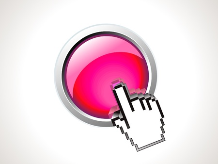 abstract shiny button with hand vector illustration Stock Vector - 9301294