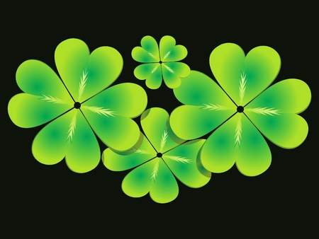 abstract st patrick clover set vector illustration Stock Vector - 9301306