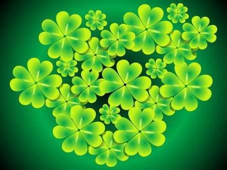 abstract st patrick clover set vector illustration Vector