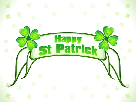 abstract st patrick ribbon background vector illustration Vector
