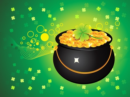abstract st patricks pot vector illustration Vector