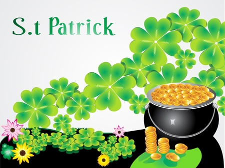 abstract st patrick background vector illustration Vector