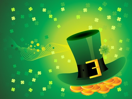 abstract green background with hat  vector illustration Vector