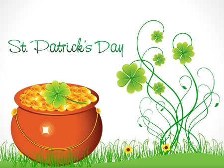 abstract st patricks background vector illustration Vector