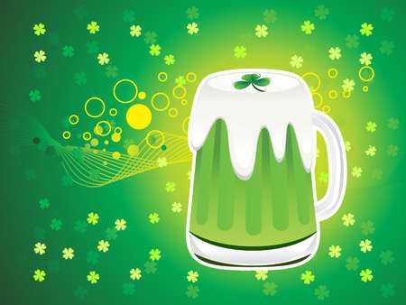 abstract st patrick beer background vector illustration Vector