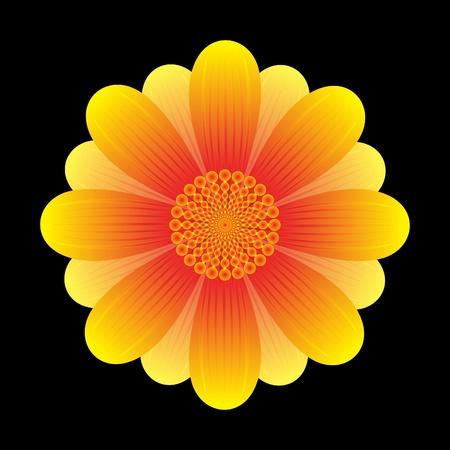 illustration vectorielle de fleur de tournesol abstraite